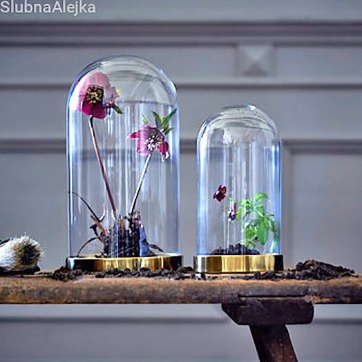 Klosz z Podstawką na Świece i Kwiaty 19 cm
