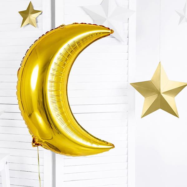 Balon Foliowy Złoty Księżyc
