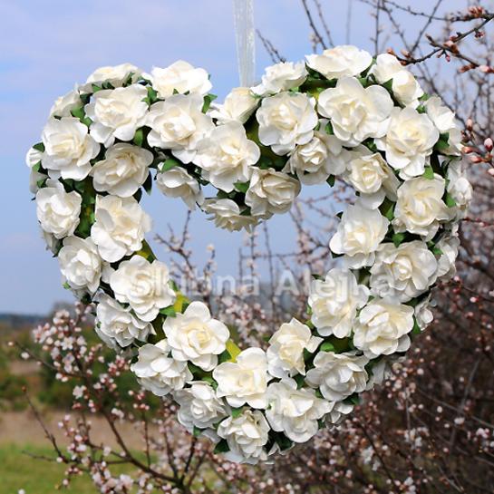 Serce z Różyczek Duże 22 x 22 cm