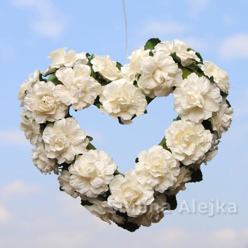 Serce z Różyczek Małe 13 cm
